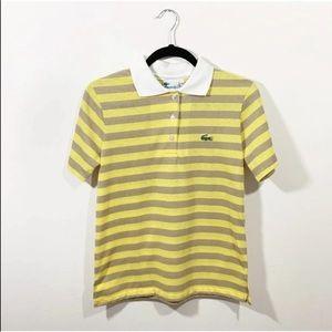 Lacoste Haymaker Vintage Yellow Stripe Polo 36 4